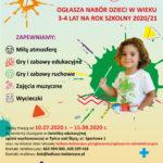 Zapisy do Świetlicy Edukacyjnej Opieki Wychowawczej w Tyńcu nad Ślęzą